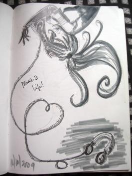 doodle music is life vocaloid headphones